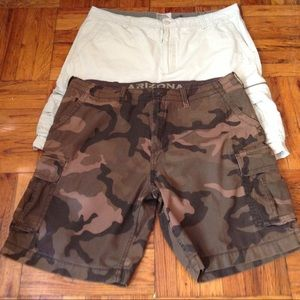 Other - 2 Pairs Men Cargo Shorts Size 46